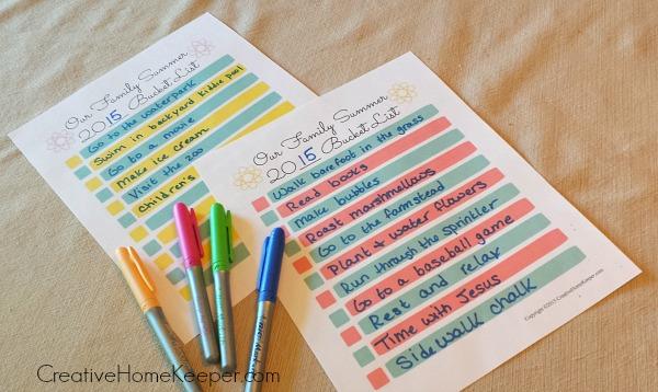 Comment créer une liste de seaux pour l'été